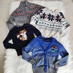 Boys Bundle of Wool and Cotton Sweaters